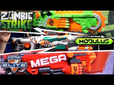 Nerf 2016 (Summer. Fall) - Mega. Rivals. Modulus. N-Strike. Zombie Strike. Doom Lands
