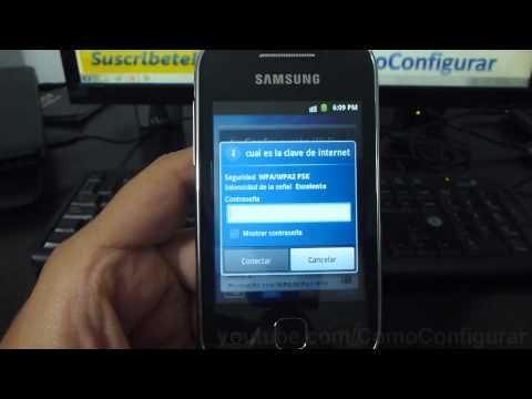 como configurar wifi Samsung Galaxy y español Full HD