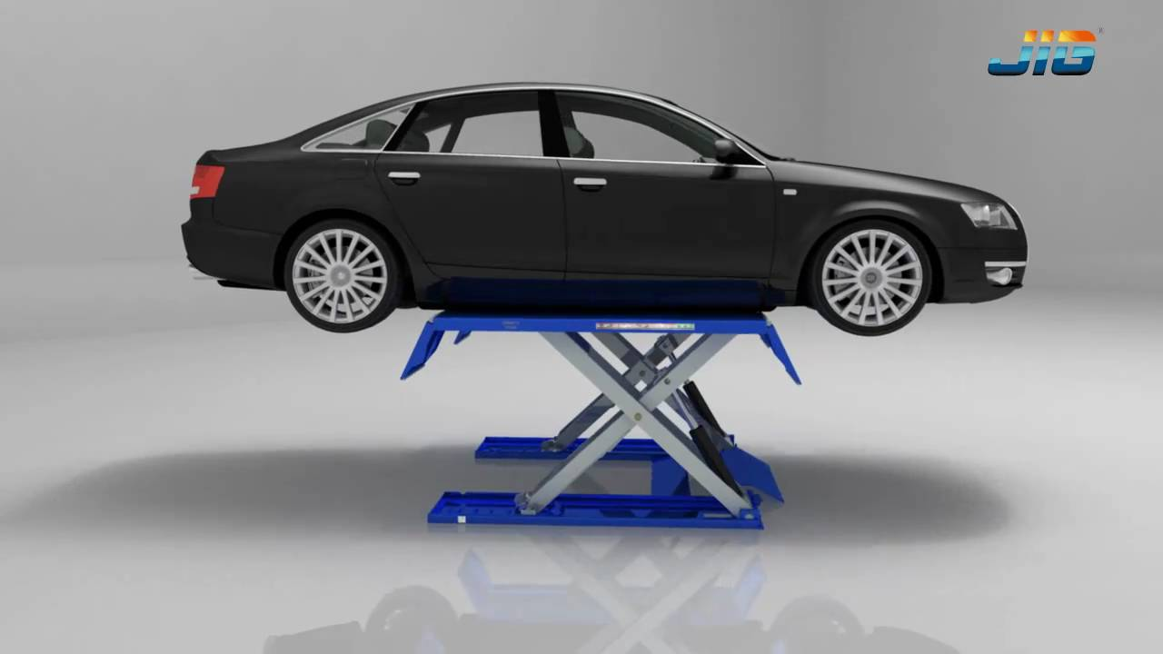 Low Rise Scissors Car Lift Sls106 Product Show Jig Youtube