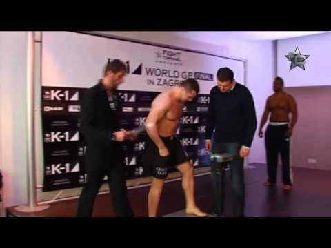 Official Weigh-In for K-1 World GP Final in Zagreb