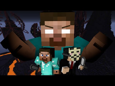 Pro and Hacker VS. Herobrine - Minecraft