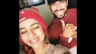 Garry Sandhu & Jasmine Sandlas During The Shoot Of Laddu
