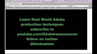 Adobe Edge Jquery HTML5 Web Animation master tutorials