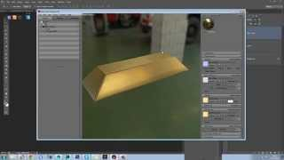 Marmoset 2 - Gold Bar Creation - Physics Based Rendering PT2