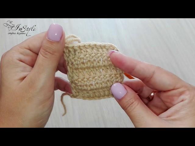 Петли подъема. Как связать ровное полотно. Вязание крючком (Crochet for beginners)