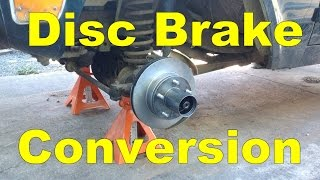 Drum to disc brake conversion.  1968 Ford Bronco
