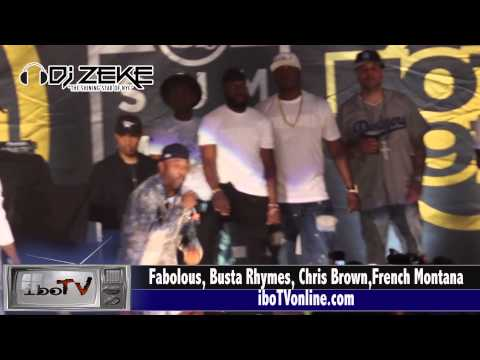 Fabolous brings out Black Rob, French Montana, Busta Rhymes, Chris Brown at Summer Jam 2015 Met Life