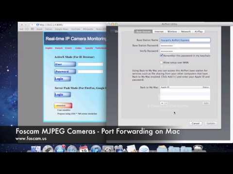 Foscam MJPEG Cameras - Port Forwarding on Mac