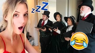 CHRISTMAS CAROLERS WAKE UP PRANK