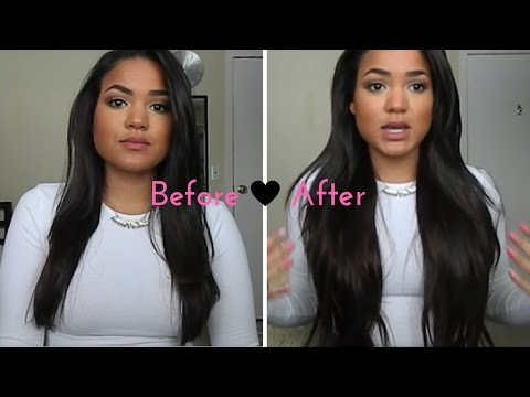 HONEST Bellami Hair Extension Review   Bellissima 220g 22'   Dark Brown