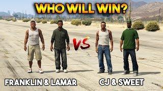 GTA 5 VS GTA SAN ANDREAS : FRANKLIN and LAMAR VS CJ and SWEET (WHO WILL WIN?)