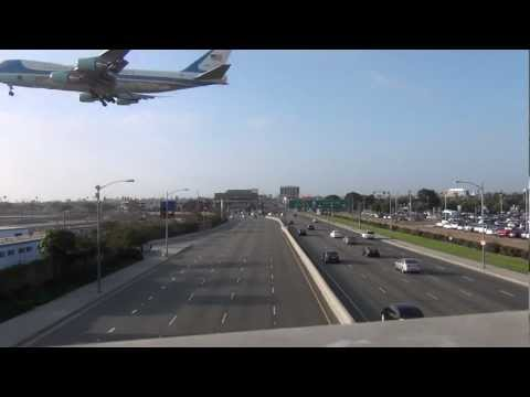 RAW VIDEO - Starmageddon George Clooney Fundraiser for President Obama in L A  LAX Sepulveda Landing
