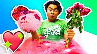 DIY GIANT VALENTINES BATH BOMB! (With Real Hearts)