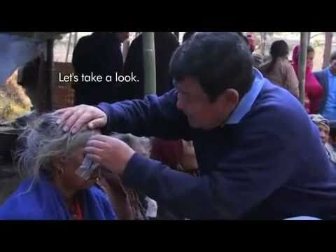 Eye doctor helping to cure blindness in Nepal