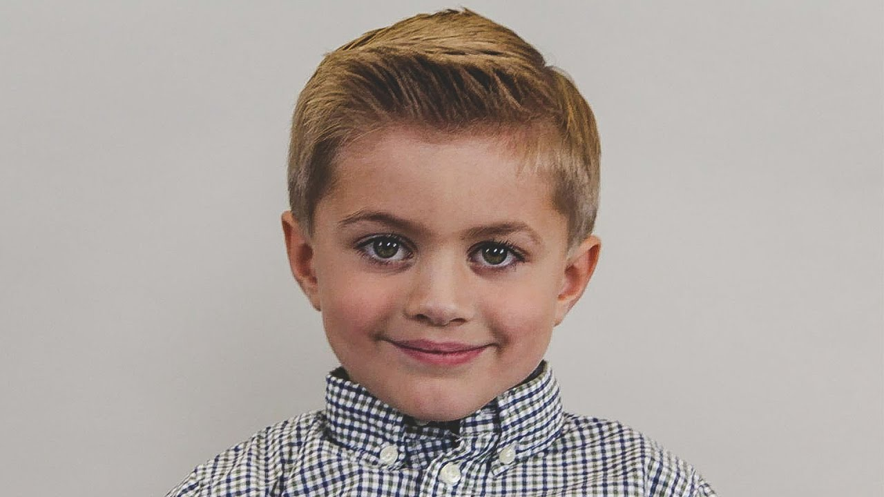 Boy S Haircut How To Cut A Traditional Side Part Boy S