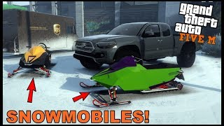 GTA 5 ROLEPLAY - PICKING UP OUR NEW SNOWMOBILES!! - EP. 538 - CIV