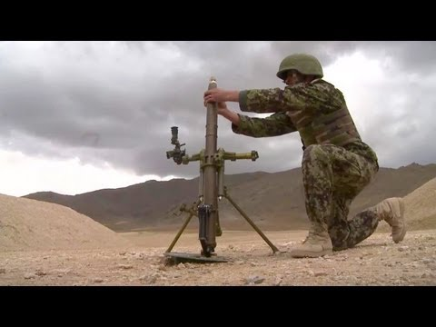 Afghan National Army soldiers participate in a 60 mm mortar live fire final test | AiirSource