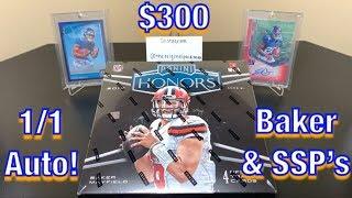 2018 Panini Honors Football Hobby Box Break - 1/1 Auto, Baker, & SSP's! $300!