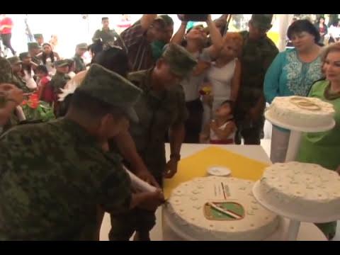 El amor trasciende cuarteles y uniformes: Se realiza cuarta boda masiva en la VII Región Militar