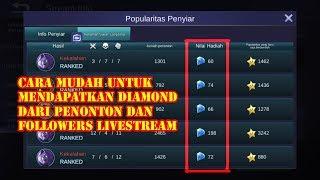Download lagu Cara Mendapatkan Diamond Gratis Dari Livestream  100% Berhasil gratis