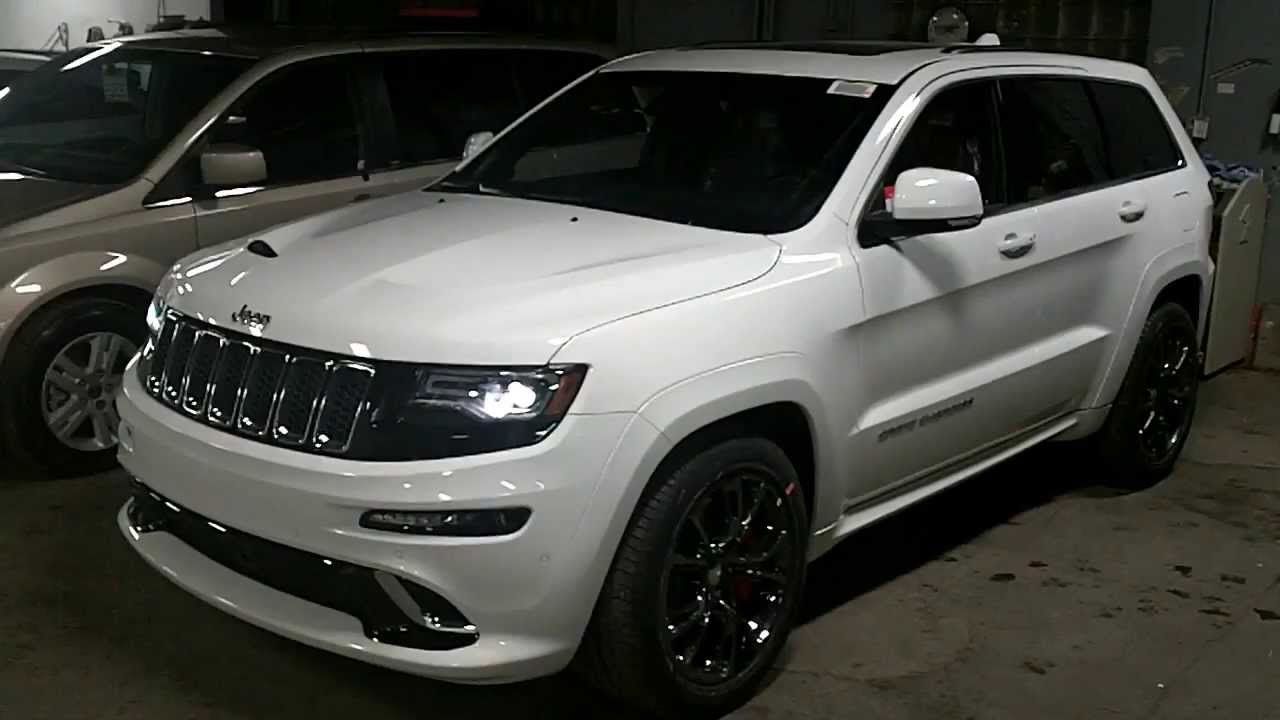 jeep grand cherokee srt blanc au meilleur prix chez landry automobiles youtube. Black Bedroom Furniture Sets. Home Design Ideas