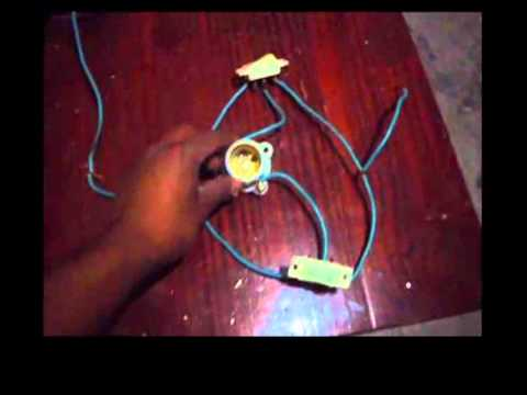 Como conectar un foco con dos apagadores en escalera (Trifasicos)