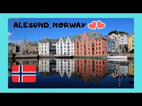 Ålesund (Norway) on a sunny day