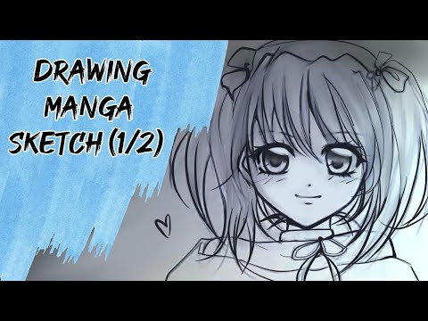 Drawing Cute Anime Girl Using Charcoal!