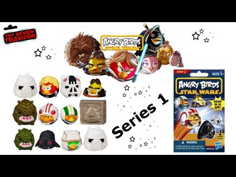 Hasbro Angry Birds Star Wars Figure Blind Bags Review Opening