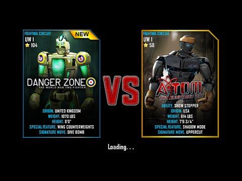 Real Steel WRB Championship Danger Zone VS Atom NEW ROBOT UPDATE Ha