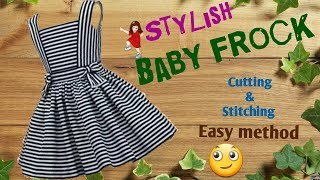 Stylish and new design Baby frock cutting and stitching full tutorial // by simple cutting