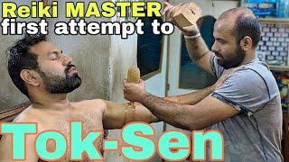 Reiki master Tok-Sen head massage, neck, arms, back massage ASMR videos.