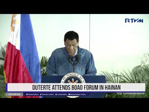 Duterte attends Boao Forum in Hainan