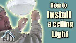 How to install ceiling light, flush mount light fixture. Easy! Home Mender.