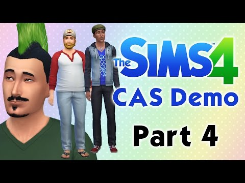 The Sims 4 CAS Demo (Pt. 4) - Male Hair, Facial Hair, Hats, Accessories, Clothes, & Shoes!