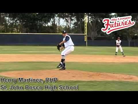 Henry Martinez, RHP, St John Bosco High School Class of 2015, Pitching Mechanics at 200 fps