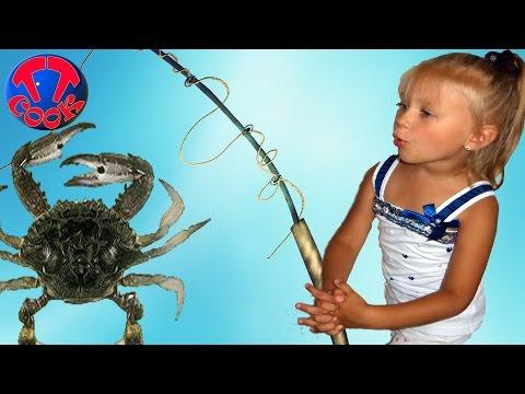 Кукла Беби Бон и Ярослава на рыбалке. Ловим Крабов. Видео для детей Baby Born Doll