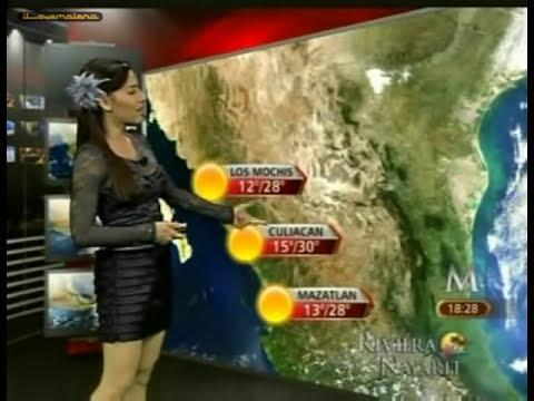 Zelenny Ibarra blusa transparente, falda negra olanes. flor en el cabello