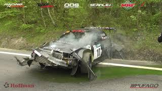 BIG CRASH 45 Bieszczadzki Wyścig Górski 2019 Szymon Łukaszczyk - Mitsubishi Lancer Evo