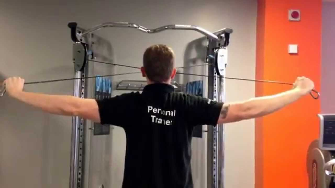 Rear Delt Flyes (Cable) - YouTube