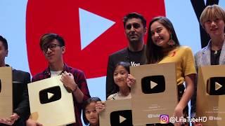 Lifia Niala Terima Penghargaan Youtube Gold Play Button 2018