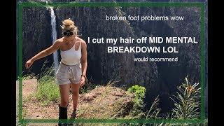 Broken foot mental breakdown lol