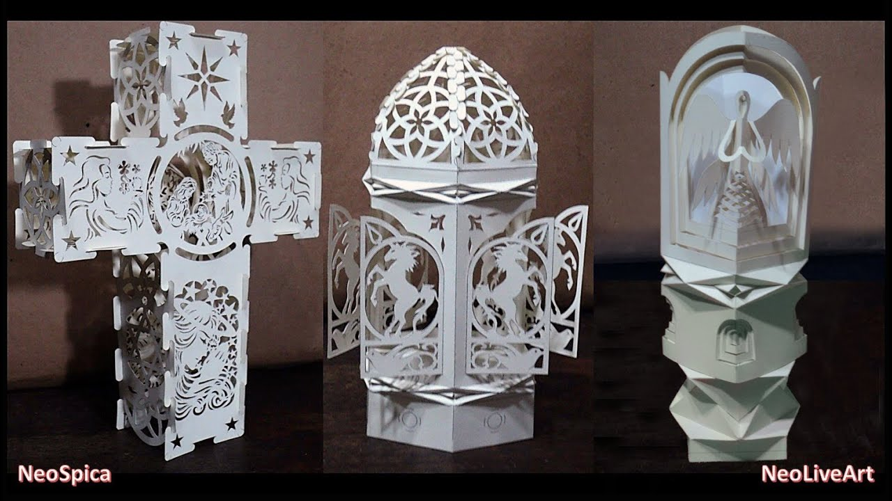 Folding And Cutting Projects - (Origami - Kirigami) - YouTube