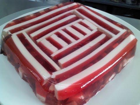 Cuadro de gelatina a rayas 4/4.-LuzMa CyR