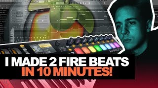 I MADE 2 FIRE BEATS IN 10 MINUTES?   10-MinTuesday #003 (Making A Beat In FL Studio From Scratch)