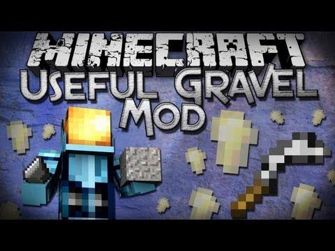 Minecraft Mod Showcase: Useful Gravel Mod - USE YOUR GRAVEL!