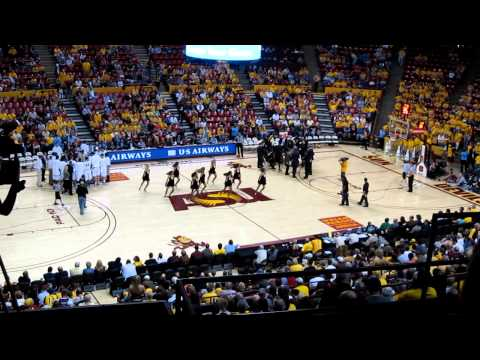 ASU Spirit Squad Dances at Sun Devil Basketball Game