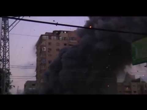 Israeli air strike destroys residential tower block in Gaza City   Reuters mp4