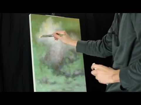 Time Lapse Acrylic Landscape Cloud Painting By Tim Gagnon