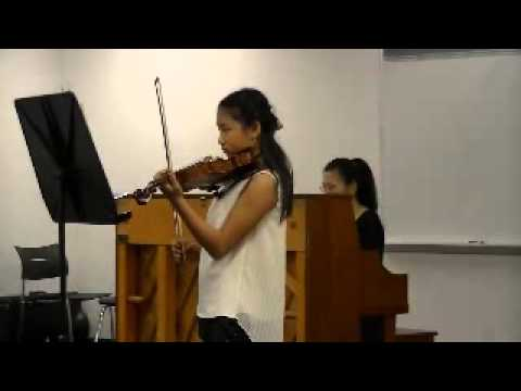 6me Air Varie - Violin by Zoe Zhao, Piano by Hong Lei Ying